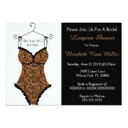 Black & Brown Corset Lingerie Bridal Shower Invite