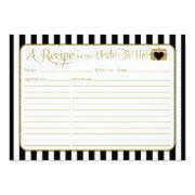 Black Gold Stripes Bridal Shower Recipe