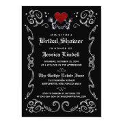 Black White Halloween Skeleton Bridal Shower