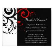 Black, White, Red Swirl Bridal Shower / General