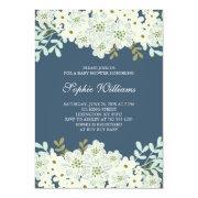 Blue And White Flower Bridal Shower