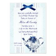 Blue And White Tea Party Bridal Shower