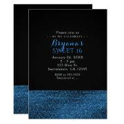 Blue & Black Modern Glam Sequins Party