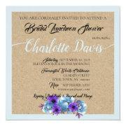 Blue Cottage Roses Shower Wedding Suite