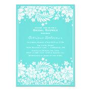 Blue Floral Pattern Bridal Shower