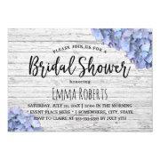Blue Hydrangea Rustic Wedding Bridal Shower