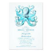 Blue Octopus Nautical Beach Bridal Shower