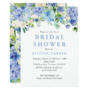 Blue Watercolor Hydrangea Bridal Shower