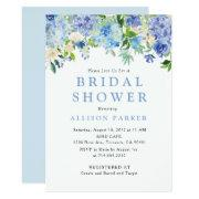 Blue Watercolor Hydrangea Bridal Shower