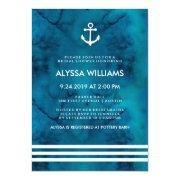Blue Watercolor Nautical Bridal Shower