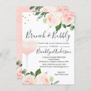 Blush Brunch Champagne Bridal Shower Invitation