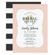 Blush Champagne Toast With Stripes Bridal Brunch