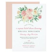Blush Floral Greenery Bridal Shower 4196 Invitation