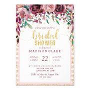 Blush Flowers & Gold Bridal Shower