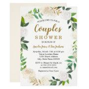Blush Gold Watercolor Wreath Couples Shower