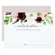 Blush Romance Bridal Shower Advice Card