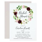 Blush Romance Bridal Shower Invitations