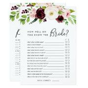 Blush Romance Double-sided Bridal Shower Game Invitation