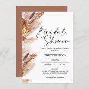 Boho Pampas Grass Bridal Shower Invitation