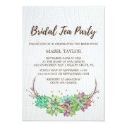 Boho Rustic Mint Floral Succulent Bridal Tea Party