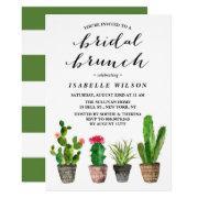 Boho Watercolor Succulents Bridal Brunch Shower