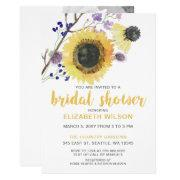 Botanical Watercolor Sunflowers Bridal Shower