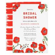 Bouquet Poppies | Bridal Shower | Invitation