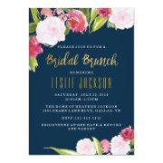 Bridal Brunch Shower Invitations Navy And Gold