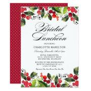 Bridal Luncheon    Christmas Florals
