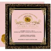 Bridal Luncheon Pink Gold | Wedding Bridal Shower Invitations
