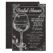 Bridal Shower Chalk Chalkboard Wine