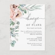 Bridal Shower Change Of Plans Poppy Eucalyptus Postinvitations