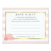 Bridal Shower Date Night  | Pink Stripe Peony