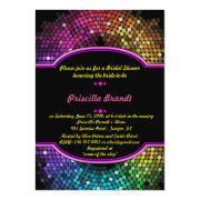 Bridal Shower, Disco Style, Black & Multicolor