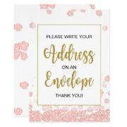 Bridal Shower Envelope Sign | Pink And Gold