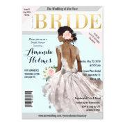 Bridal Shower Fashion Magazine Invitation