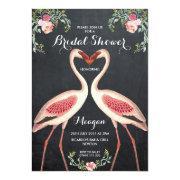 Bridal Shower Flamingo  Chalkboard