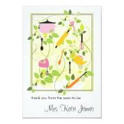 Bridal Shower Flat Thank You Card Personalized Invite