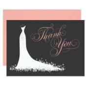 Bridal Shower Flat Thank You  | Wedding Gown