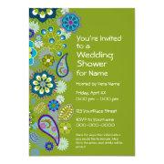Bridal Shower - Fun Floral Pattern Custom Invitation