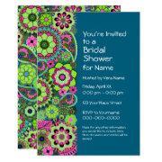 Bridal Shower: Fun Floral Pattern Pink Green Teal