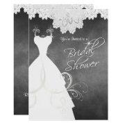 Bridal Shower In Chalkboard & White Lace