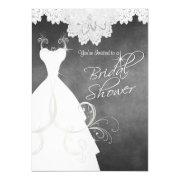 Bridal Shower In Chalkboard & White Lace