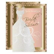 Bridal Shower In Metallic Gold And Pink Rose