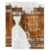 Bridal Shower In Rustic Barn Wood And Lace