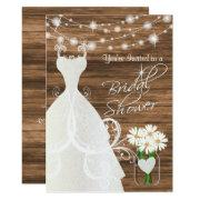 Bridal Shower In Rustic Wood Stringlights