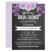 Bridal Shower In Vintage Purple Rose