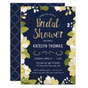 Bridal Shower Invitation, Customize Floral W/ Gold