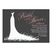 Bridal Shower Invitation | Elegant Wedding Gown Custom Invitations
