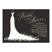 Bridal Shower Invitation | Elegant Wedding Gown Personalized Invites